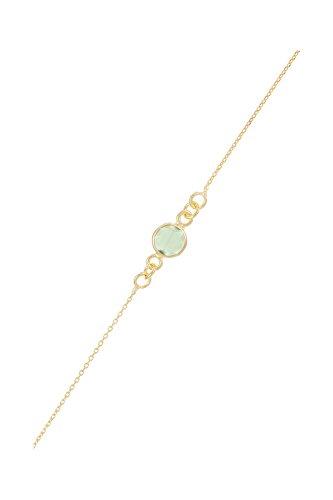 Córdoba Jewels | Pulsera en Plata de Ley 925 bañada en Oro con Piedra semipreciosa diseño Dolce Esmeralda Oro