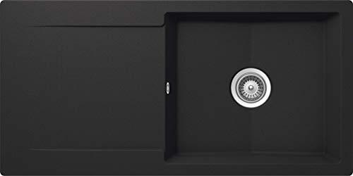 SCHOCK Küchenspüle 100 x 50 cm Epure D-100L Onyx - CRISTALITE Granitspüle ab 60 cm Unterschrank-Breite