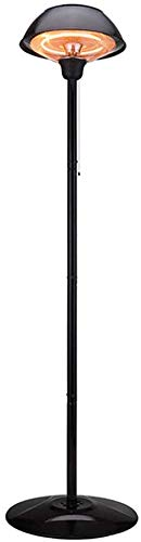 ZQN Heizpilz, Außenturm Heizpilz, elektrische Infrarotheizung Stehen Halogen Feuer Dunkelstrahler für Party Garten oder in der Halle, Schwarz, 1500W