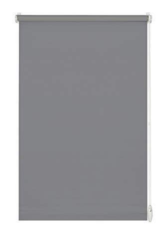 Gardinia - Estor Enrollable para Fijar o Pegar, Color Gris Piedra, 120 x 150 cm (Ancho x Alto)