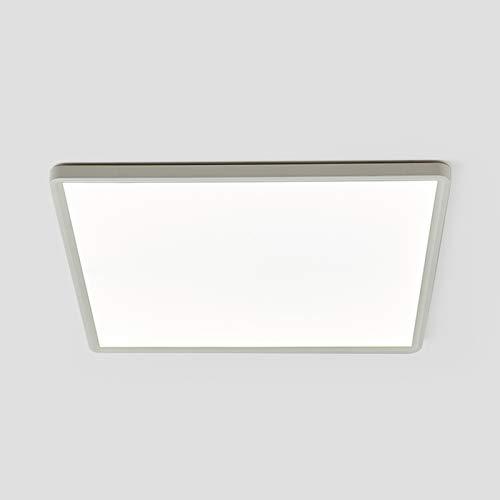 Panel LED de techo moderno cuadrado de 40 W para empotrar ultrafino, luz natural 4000 K, 30 x 30 cm, plafón para yeso para salón, dormitorio, oficina, baño, pasillo, cocina, balcón