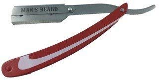 Man's Beard – Afeitadora de metal rojo profesional manual de barbero
