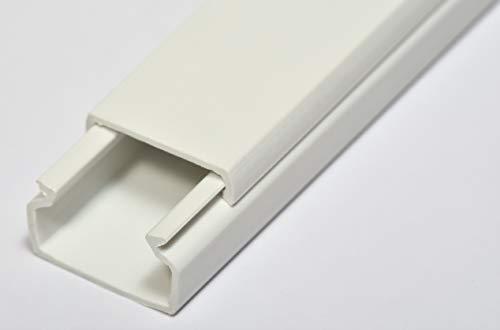 Canaleta adhesiva de pared para cable eléctrico en color blanco. Medidas 2000...