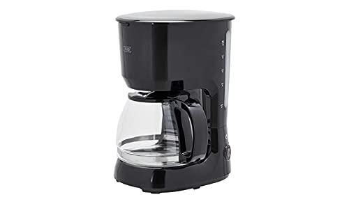 KHG Kaffeemaschine Filtermaschine Glaskanne Schwarz 1,25 Liter 750 W Permanentfilter Warmhaltefunktion