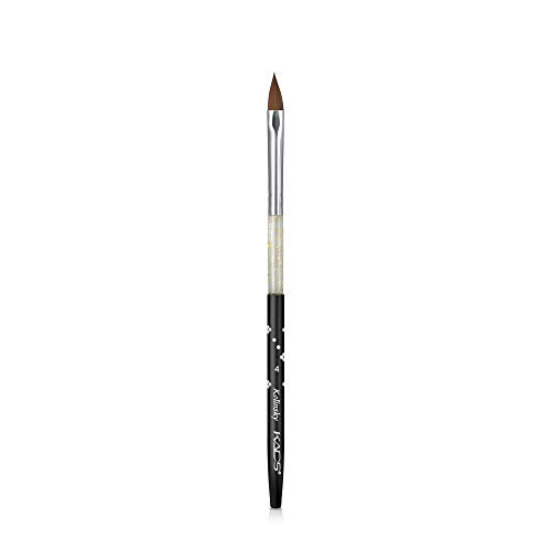 Pinceau en poils de martre Kolinsky pour ongles en acrylique, pour Nail Art, pose gel UV, vernis