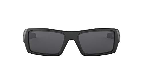 Oakley Men's OO9014 Gascan Rectangular Sunglasses, Matte Black/Grey, 54 mm