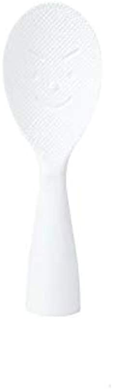 Rice Paddle Non Stick Rice Spoon Stand Up Serving Rice Spatula 7 9 Inch White
