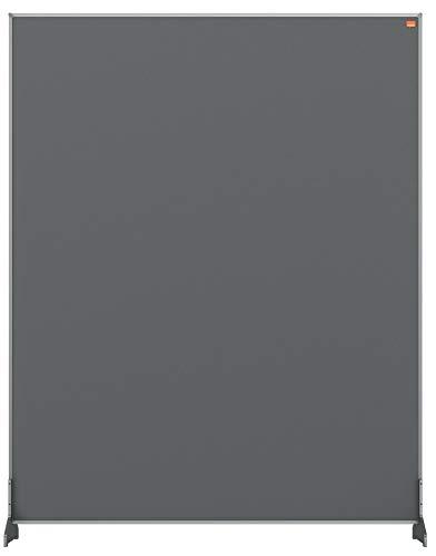 Nobo Impression Pro Schreibtisch-Trennwand, Schutztrennwand für Social Distancing, Hygieneschutz, Filz, Grau, 800x1000mm, 1915502