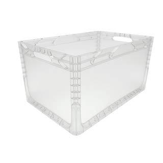 1 Stück Euronorm Behälter<br/>L 600 x B 400 x H 320 mm<br/>transparent geschlossen<br/>Handgriffe offen