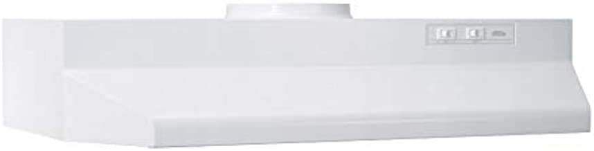 Broan-NuTone 423001 Exhaust Fan for Under Cabinet Convertible Range Hood Insert with Light, 6.0 Sones, 190 CFM, White