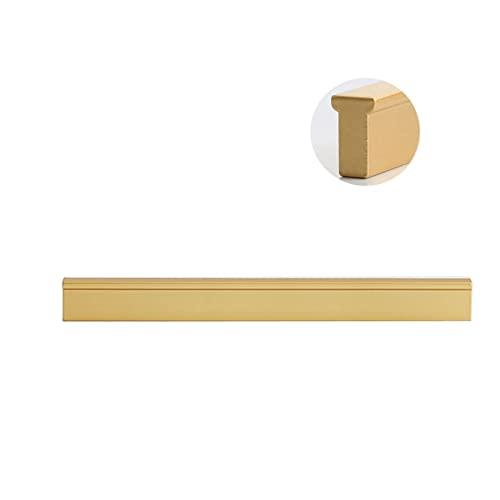 1 Piezas Pomos y tiradores dorados Manijas de Gabinete de Aluminio Tiradores de Muebles, Muebles de Cocina Hardware Perillas Cajones y Tiradores Armarios Dormitorio(Size:Hole distance192mm)