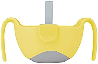 b.box 3 in 1 Bowl with Lid and Straw & Snack Insert | 6 Months + | Color: Lemon Sherbet | 8.5 oz. | BPA-Free | Phthalates & PVC Free | Dishwasher & Microwave Safe