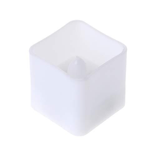 Exing Bougies Chauffe-Plat à LED carrées sans Flamme vacillante