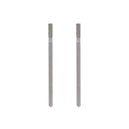 Dremel 7122 Diamantbestückter Fräser - Zubehörsatz für Multifunktionswerkzeug mit 2 Diamant-Fräser ø 2,4 mm zum Gravieren, Schnitzen, Fräsen und Finisharbeiten