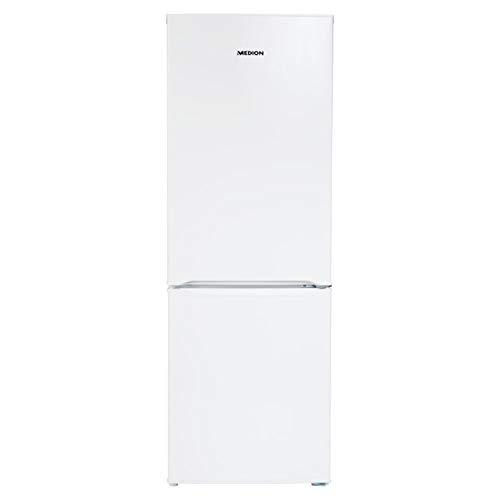 MEDION Kühl-Gefrierkombination (Kühlschrank, 122 Liter, Automatische Abtaufunktion, 38 dB, Türanschlag wechselbar, freistehend, 50cm breit, MD 37239) weiß