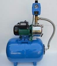 50 Liter Hauswasserwerk Pumpe INOX 1100Watt Fördermenge: 3600l/h Gartenpumpe mit Trockenlaufschutz und integrierten thermischen Schutzschalter.