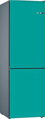 Bosch KVN39IUEC Serie 4 VarioStyle – Combinación de nevera independiente/A++ / 203 cm / 273 kWh/año/puerta frontal intercambiable Aqua / 279 L refrigerante / 87 L congelador/NoFrost/VitaFresh