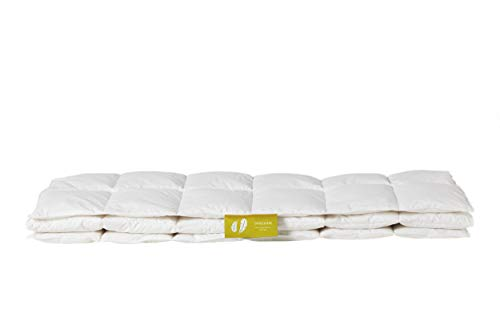 GANZJAHR - Unser Allrounder für alle Tage. 240x220 cm, 90% Daune, zertifiziert, umweltfreundlich, waschbar & allergikergeeignet.