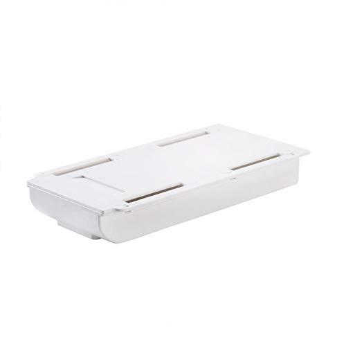 Cajón de escritorio de mesa autoadhesivo cajón bandeja de almacenamiento oculta debajo del escritorio para maquillaje oficina escuela lápiz caso (blanco, tamaño: S)
