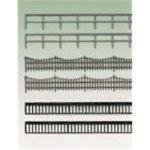 Auhagen 42558.0 - Eisenzaun und geländer, Gesamtlänge 2240 mm, bunt -