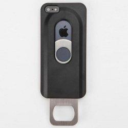 Cover iPhone 5 5S SE apribottiglie, colore: Nero