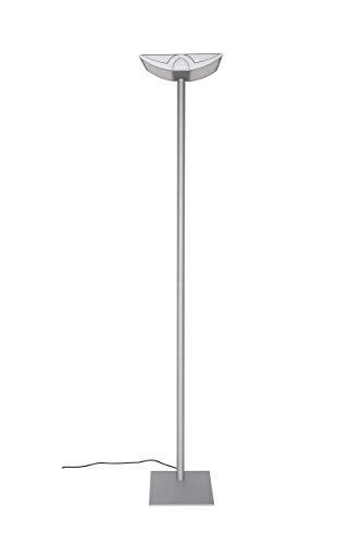 Maul Büro Standleuchte MAULavior, 4 x 14 Watt, Direktes Licht, Höhe 190 cm, Silber, 8256095 (Generalüberholt)