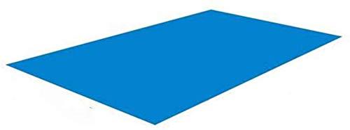 TAIPPAN Tela del Suelo De La Piscina, cojín para la Piscina, Alfombrilla Rectangular para la Piscina, Resistente A Los Rayos UV, Plegable, Protección contra El Suelo, Tela De Aceite, Azul 338 * 239cm
