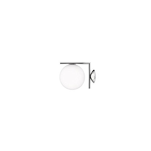 Wand- en plafondlamp Flos IC C/W 1 chroom