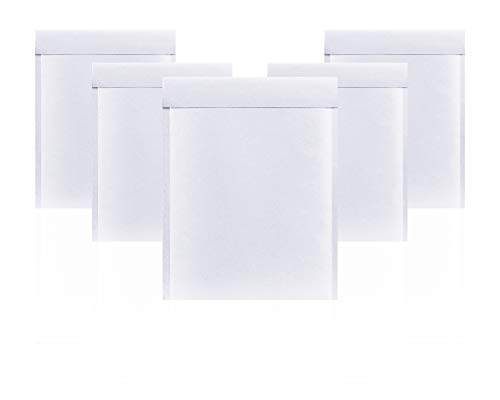 Amiff White Kraft bubble mailers 14.25 x 19 Padded envelopes 14 1/4 x 19. Pack of 10 Kraft Paper cushion envelopes. Exterior size 15x20 (15 x 20). Peel and Seal. Mailing, shipping, packing
