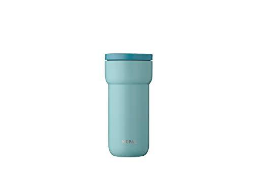 Mepal Ellipse 375 ml-Nordic Green – Kaffee to go Thermobecher – teebecher-auslaufsicher – thermotasse Edelstahl – passt in nahezu alle Getränkehalter