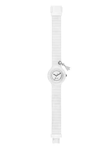 Orologio HIP HOP DONNA PIERCING quadrante MONO-COLORE BIANCO movimento SOLO TEMPO - 3H QUARZO e CINTURINO SILICONE BIANCO HWU0830