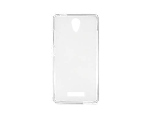 etuo Handyhülle für Allview P6 Energy Lite - Hülle FLEXmat Hülle - Weiß - Handyhülle Schutzhülle Etui Hülle Cover Tasche für Handy