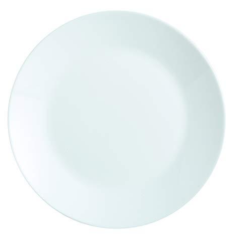 Dajar Speiseteller Zelie 25 cm Arcoroc, Glas, Weiß
