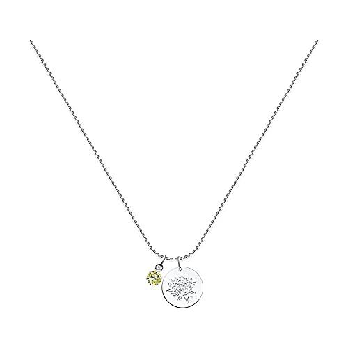 Mirkada November - Collar de plata para mujer con cristales Swarovski 'November', amarillo, 45/50 cm