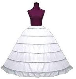 Super Full Cotton 6 Bone Hoop Skirt Slip (160DSXFC)