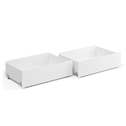 VitaliSpa Schubladen für Tagesbett Luna 2er Schubkasten Set auf Rollen 90x200cm