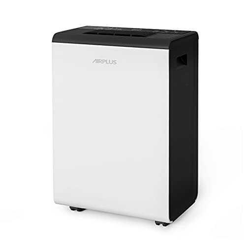 AIRPLUS 50 Pints Dehumidifier with Universal Wheels for Medium Spaces and Basements (AP2006)