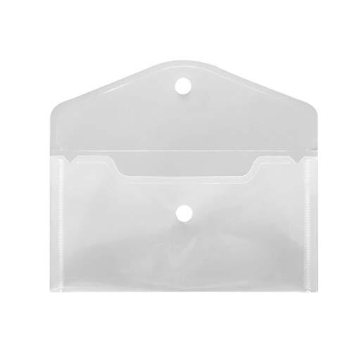 Archivos Bolsa de almacenamiento de papelería PP tarjetas de papel Caja de lápiz almacenaje de los efectos de escritorio del borrador organizador caja del filtro, transparente, de tipo horizontal