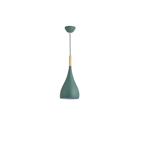 Zpzzy Macaron Simple Pendiente de la luz E27droplight Personalizada de una Sola Cabeza de la lámpara Creativa Lámpara de suspensión utilizados en Comedor, Sala de Estar, Dormitorio