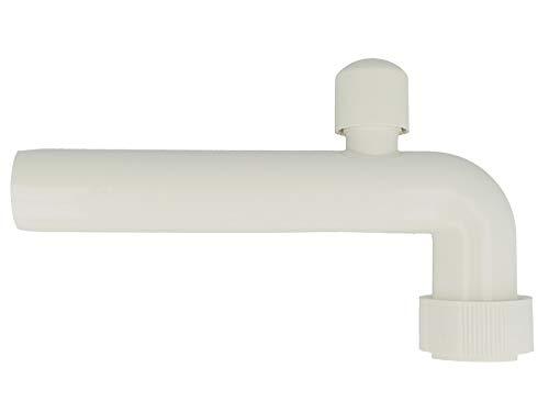tecuro Abgangsbogen Ø 40 mm - mit Rohrbelüfter - PP weiß