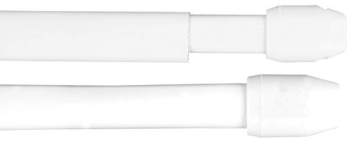 Gardinenstange Bistrostange (weiß) als 2er Pack - 2 Vitragestangen ausziehbar (80-120 cm)