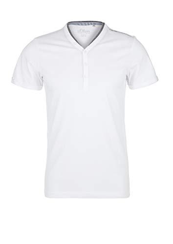 s.Oliver 130.12.005.12.130.2038392 T-Shirt, Bianco, S Uomo