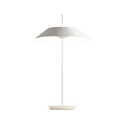 MAYFAIR-Lámpara de mesa LED con regulador de intensidad de 52 cm de altura, color blanco mate Vibia – diseñada por Diego Fortunato