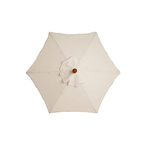 EASONGEE Sonnenschirm, 200cm Waschbar Sonnenschirm Balkon, Gartenschirm Taupe Rund, Sonnenschutz UV25+