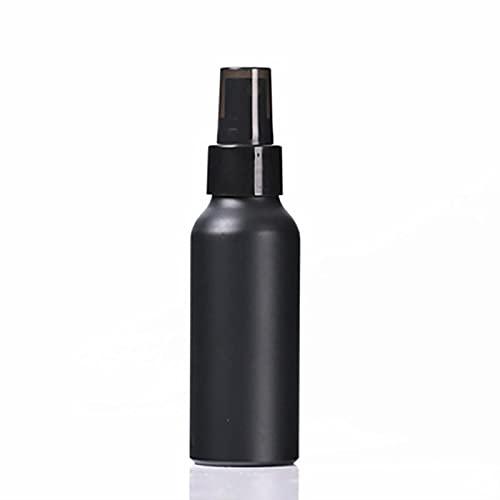 Kunsa 2 Piezas de Viaje Botella de Aluminio Negro Botella vacía Botella de Spray de Perfume loción Pura Esencia Botella de loción cosmética