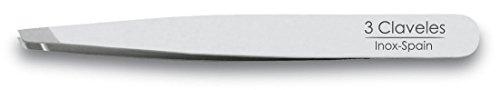 3 Claveles 12261 - Pinza depilar sesgada 10 cm inoxidable