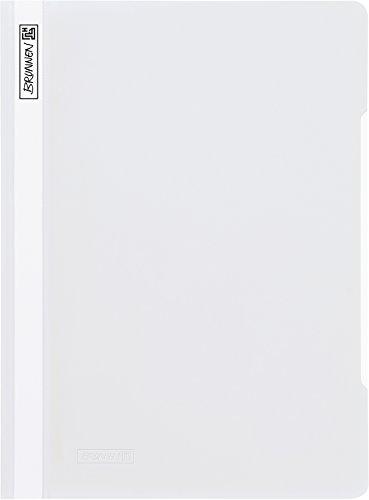 Brunnen 102011000 Schnellhefter (A4, aus PVC, glasklares Deckblatt) weiß