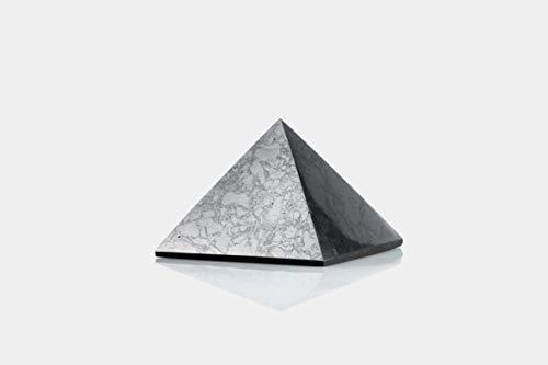 SN NATURSTEIN UG - Pirámide Shungit pulida | Gema y piedra curativa originaria de Carelia - Protección contra radiación EMF - 10 cm