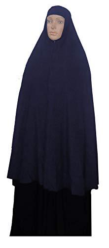 "bonballoon Dark Blue Extra Long 42"" Khimar Amira Hijab Hejab Abaya Niqab Burqa Burkas Veil Eid Islamic Modest Muslim Islam Face Cover Dress Clothing Muslim Women Womens Abaya Jilbab Prayer Overhead"