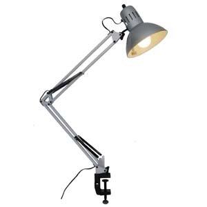 ヤザワ アームライトシルバーEFA60W形電球色1灯 CFEA60EL28SV